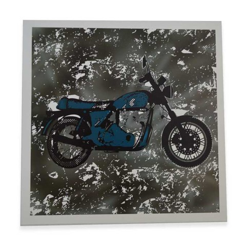 Vintage Bike Square Art Print