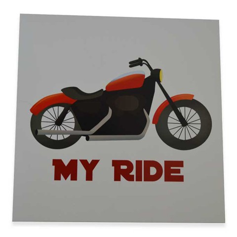 Bike Square Art Print