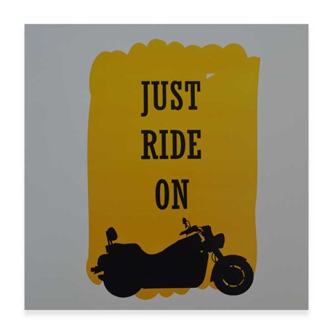 Just Ride On, for Bike Fans square Art Print