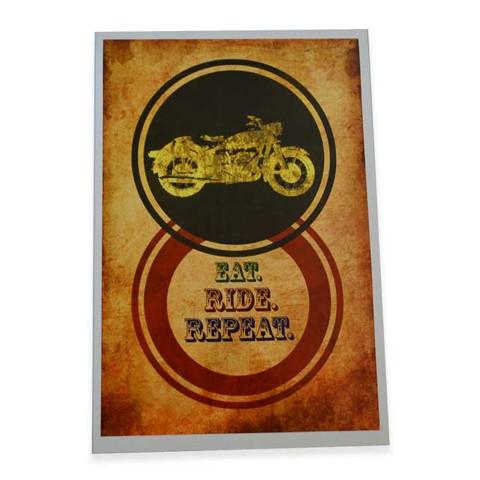 Eat Ride Repeat Wall Art