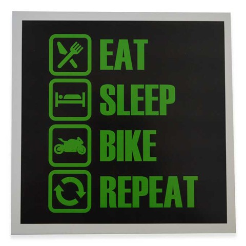 Eat Sleep Bike Repeat Square Art