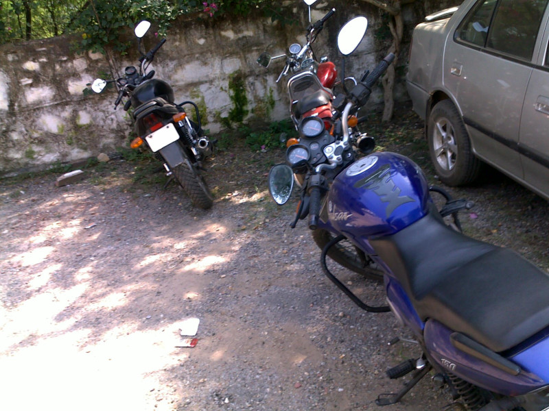 Bikes parked in Compound
