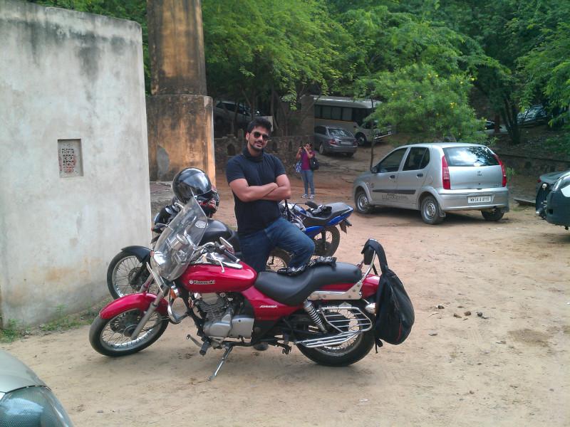 Posing near Neemrana Fort