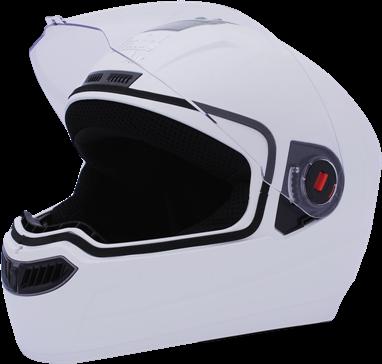 sba 1 air classic full face helmet white colour